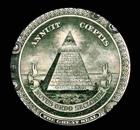 (미국 연방 준비 은행과, 미국 1달러 지폐 뒤에 있는 수수께끼의 피라미드 문양입니다.)