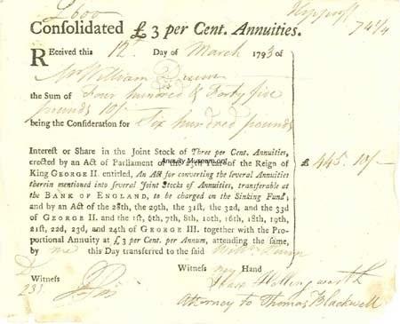 (인플레가 심하지 않았던 1793년만 하더라도, 영국 국채 consol 의 정상적인 이자는 3~5% 정도였습니다.)