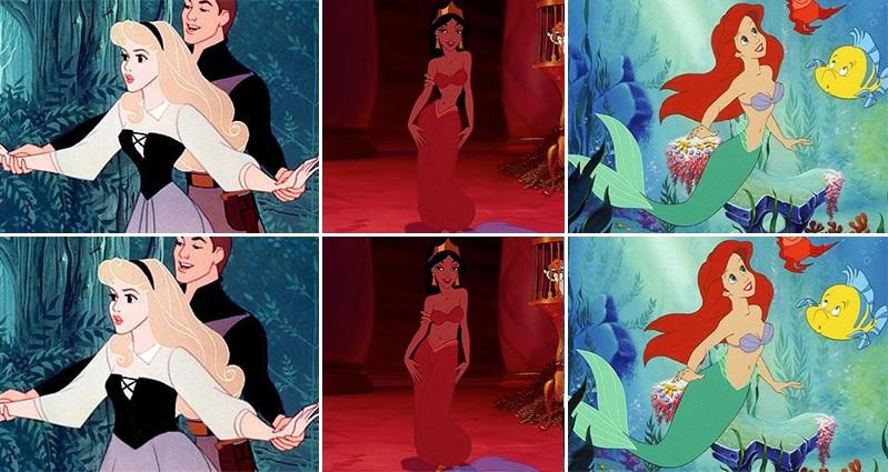 디즈니 공주들이 현실적인 허리라인을 가진다면?