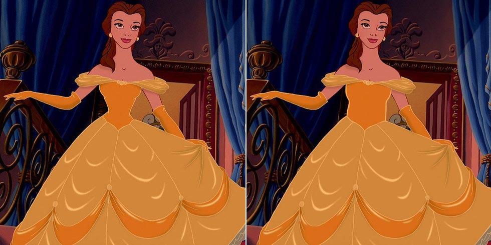디즈니 공주들이 정상적인 허리라인을 가진다면?