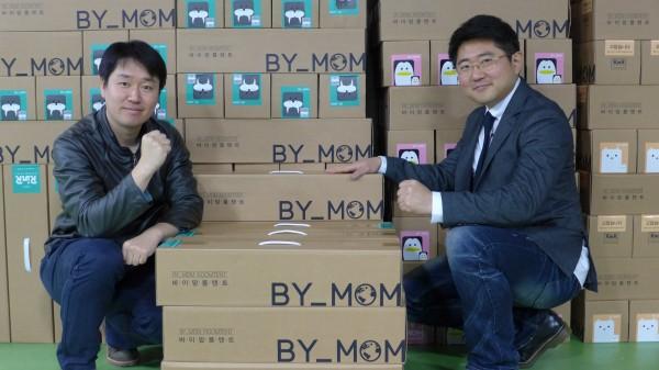 바이맘 창업멤버인 장진권 전략기획본부장과 김민욱 대표. 사진 이경숙 이로운넷 머니투데이