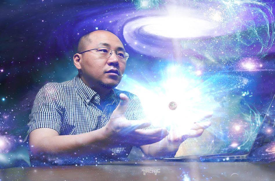 우주의 기를 모으고 있는 김종득 회장님.