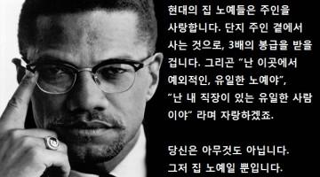 """말콤 엑스의 감동 연설 """"집노예와 들노예"""""""