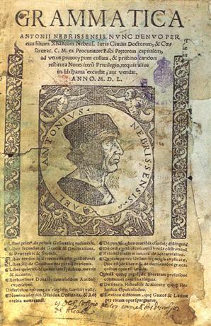 1492년에 출판된 카스티야 문법