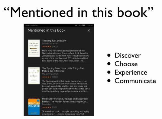 읽고 있는 책의 참고자료들과 연결되는 경험이다. 컨텍스트의 4가지 요소가 동시다발적으로 발현된다. 아마존 킨들 파이어에서 독서 중이다. 읽고 있는 책의 참고자료들과 연결되는 경험이다. 컨텍스트의 4가지 요소가 동시다발적으로 발현된다.