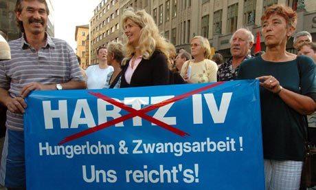 Protest against Hartz IV reforms in Leipzig, 2004