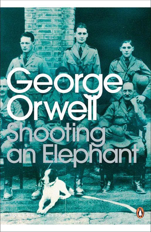 책 코끼리를 쏘다. 조지 오웰의 버마 경찰 시절 사진이 표지로 쓰였다.