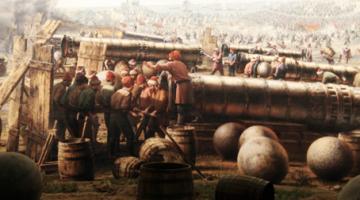 역사상 최초의 포격전, 콘스탄티노플 공방전