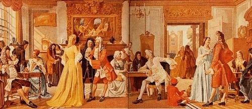 17세기말의 White's Chocolate House의 모습입니다.