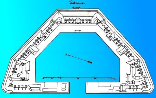 트레크로너 해상 요새의 구조도입니다.