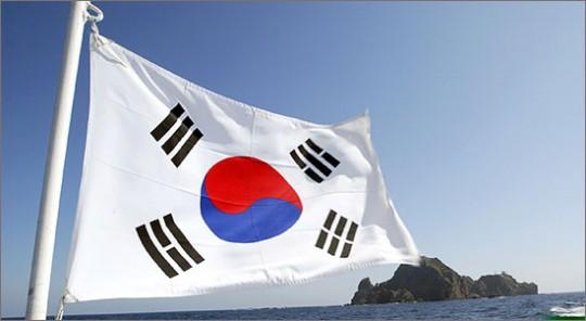 국기는 한 나라의 표상으로 그것은 '나라사랑'의 의미로 새겨지기도 한다. ⓒ 오마이뉴스