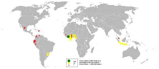 흔히 카카오하면 아프리카 가나를 떠올리지만 생각해보면 카카오의 원산지는 남미입니다.