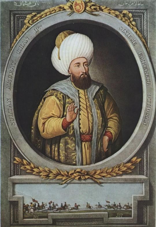 술탄 무라드 2세의 초상화