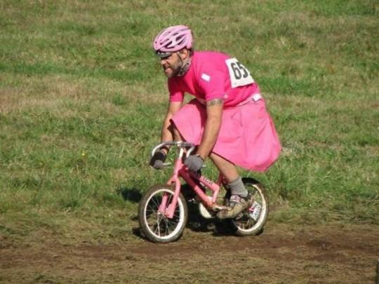 자전거가 좀 작지 말입니다?