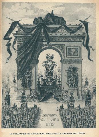하지만 개선문에서 벌어진 가장 엄숙한 순간은 나폴레옹의 운구가 아니라 빅토르 위고의 시신을 팡테옹에 모시기 전 잠시 개선문 아래에 모셔두었던 일이었지요. 전 프랑스가 애도했었습니다.