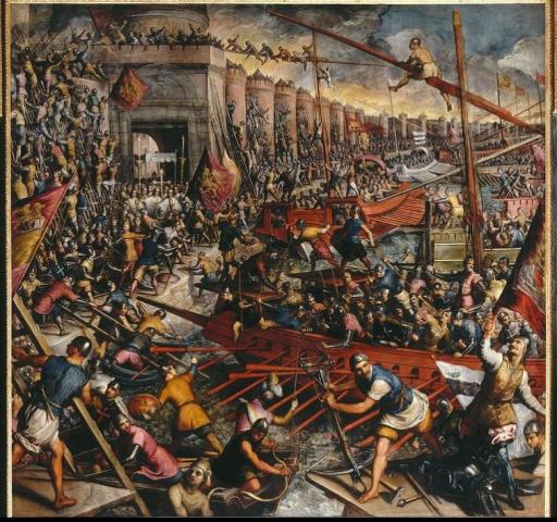 저 야만스러운 십자군 놈들이 여기가 예루살렘이라고 생각하는 거냐 ? 여기는 기독교 국가인 비잔티움이란 말이다 !!!