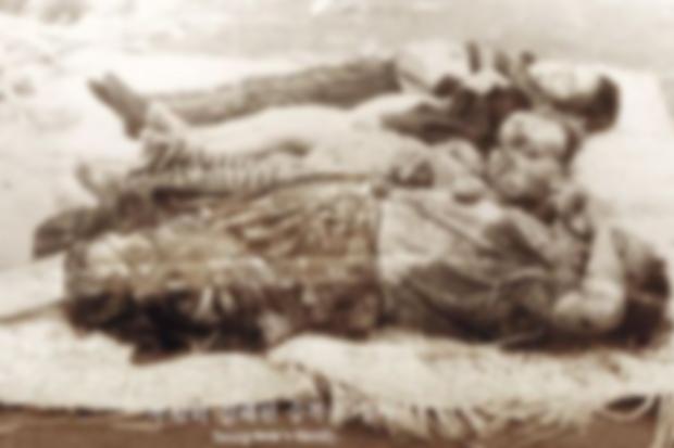 무장공비들에게 무참히 살해당한 이승복 일가 4명의 시신 모습