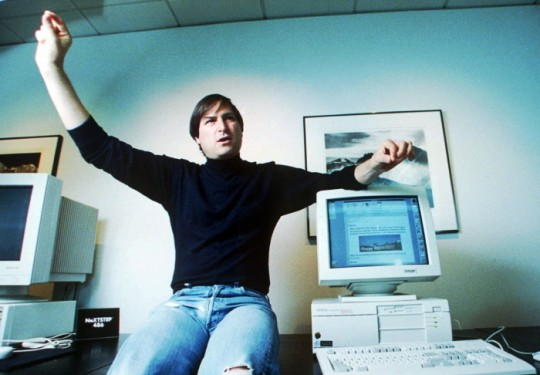 Steven P. Jobs, shown in this 1993 photo, became a billionaire Wednesday, Nov. 29, 1995, when a small digital studio he bought nine years ago went public to a storm of investor demand. In its first trading day, investors gave Pixar Animation Studios, the company that made the current No. 1 movie ``Toy Story,'' a market value of $1.46 billion.  Jobs, who is Pixar's president, owns 80 percent of its 37.4 million outstanding shares. (AP Photo/Kristy Macdonald)