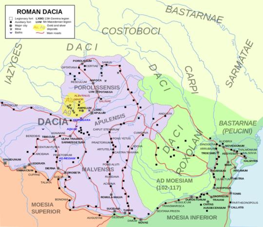 로마 제국 시절의 다키아 속주