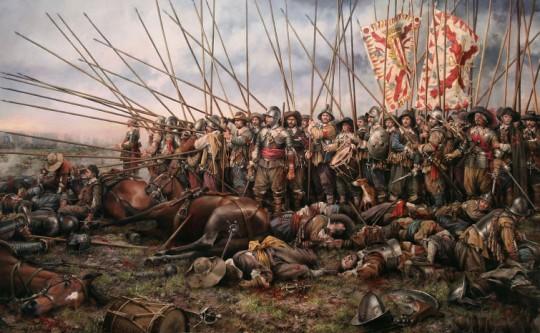 로크롸 Rocroi 전투에서의 테르치오 부대