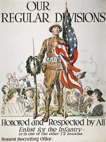 미국의 군사력은 제1차 세계대전 발발 이후에도 유럽 각국에 비해 매우 보잘 것 없는 수준이었으나, 유럽으로의 원정군을 편성하면서 그야말로 막강한 군사력을 갖추게 됩니다. 최초로 유럽에 건너간 미군 포병대는 아직 포병 장비도 제대로 갖추지 못해 프랑스군의 대포를 빌려 써야했다고 합니다.