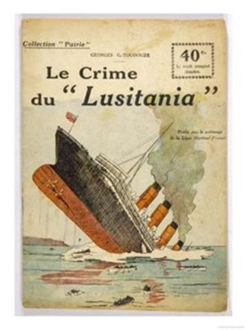 '루시타니아 호의 범죄 행위'라... 독일로서도 별다른 선택의 여지가 없었다라는 변명도 있겠지만, 그래도 여객선이 분명한 배에 어뢰를 쏘아대는 행위에는 변명의 여지가 없긴 하겠지요.