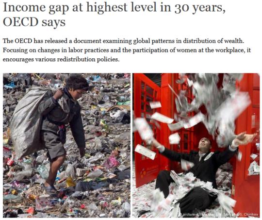 좌빨 종북주의자들이 아닌, OECD 사무국이 발표한 자료에서도 이런 빈부격차를 줄이기 위해서, 부자들에게서 더 많은 세금을 걷는 누진세 등의 제도를 권고하고 있습니다.