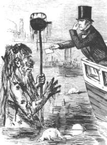 19세기 템즈 강의 오염