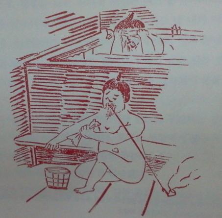 당시 조선인들은 목욕탕 안에서도 담배를 피웠다.
