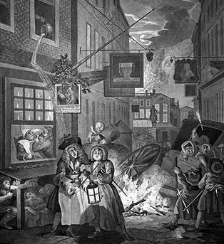 윌리엄 호가스, 『그때 그 시절』의 삽화, 요강 비우기