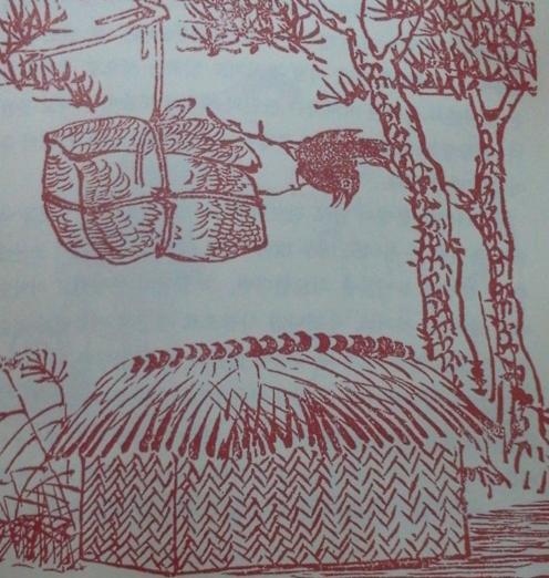 조선시대 천연두에 걸려 죽은 시신은 가마니에 넣어 나무에 매달았다.