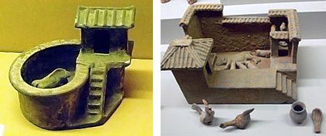 2천년 전 중국의 한나라에서는 돼지변소를 만들어 인분을 사료로 활용했다.