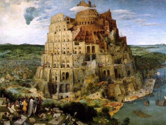 인간의 언어가 달라짐으로써 혼란을 겪고 결국 바벨탑은 무너졌다.