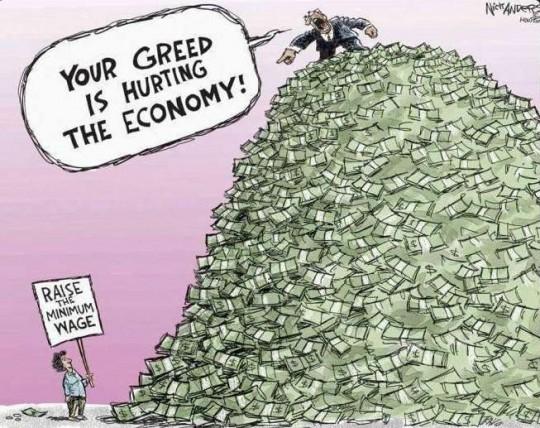 너의 탐욕이 경제를 망치고 있어!
