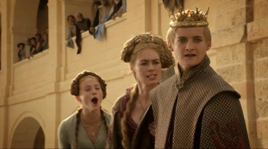 산사 스타크(왼쪽 첫번째). 그 어떤 시월드도 그녀의 시월드보다 끔찍할 순 없을 겁니다. ⓒ HBO