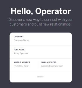 베타신청: 서비스 제공자 (오퍼레이터) 신청화면