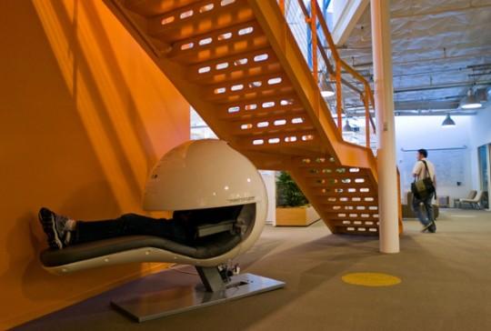 메트로냅(MetroNaps)의 에너지포드 Photograph: Alamy