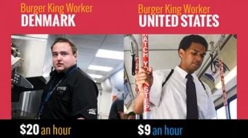 덴마크 버거킹 노동자의 삶