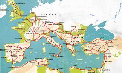 모든 길은 로마로 통한다. (출처: )
