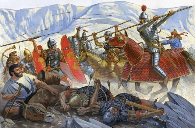 파르티아 기병의 개인과 집단전술을 몽골이 그대로 흡수했습니다. 경기병으로 적을 교란, 유인, 분리시킨 후에 중기병 카타프랙트(Cataphract)로 궤멸을 시켰습니다.