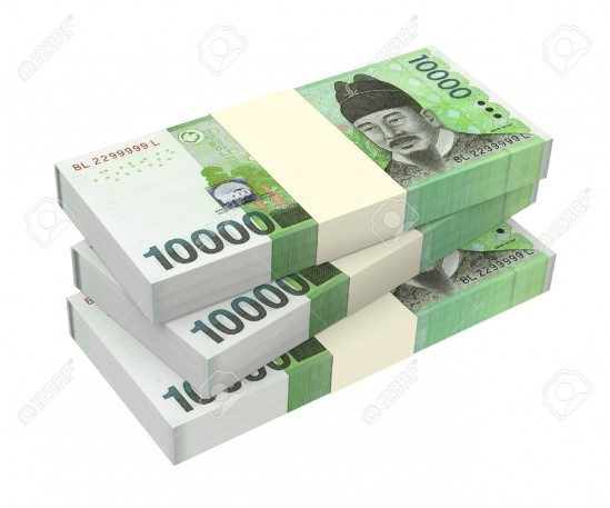 27946162-Korean-won-money-isolated-on-white-background-Computer-generated-3D-photo-rendering--Stock-Photo