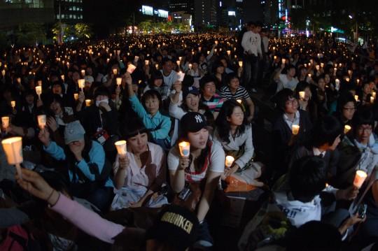 문화제형 집회가 처음 등장했던 2008년 촛불집회