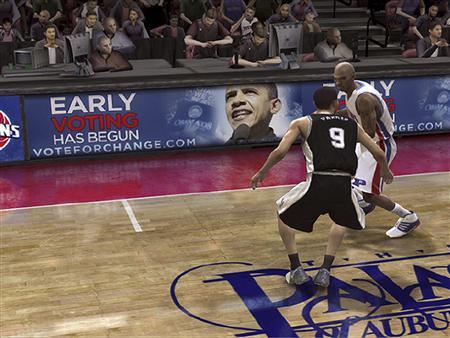 2008년에는 이 방법으로 농구 광 오바마가 무려 게임 내 광고로 등장을(…)