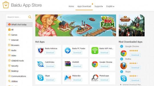 세계 4위 규모로 성장한 바이두 앱 스토어의 모습