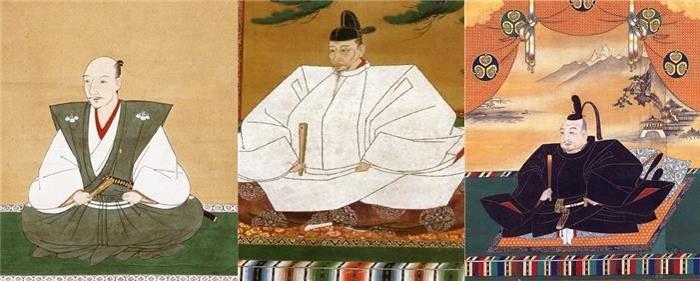 오다 노부나가, 도요토미 히데요시, 도쿠가와 이에야스, 도요토미 외모가 참 돋보인다(…)