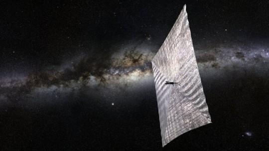빛으로 운항되는 LightSail의 모습 출처: Josh Spradling/The Planetary Society