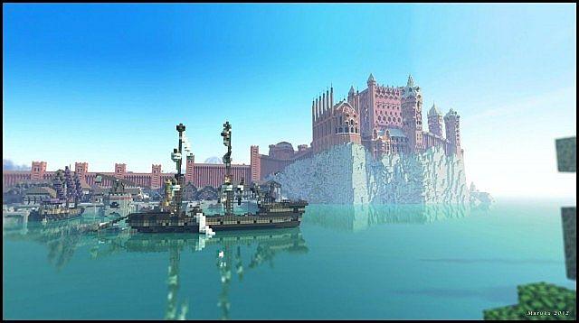 Mojang | 2011년 | 어드벤쳐 로 구현한 킹스랜딩의 모습 출처: 9MINECRAFT