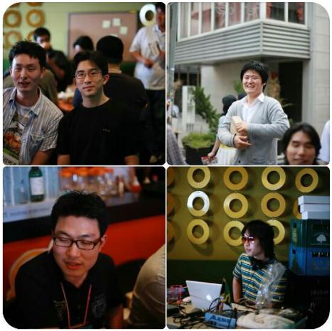 미투 파티에서의 애니팡 창업자, 원티드 창업자, 해먹남녀 창업자, 영기획 창업자(...)