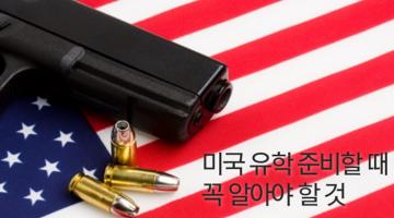 미국의 총기 문제에 관해 유학생들에게 드리는 조언