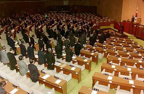 1996년 신한국당의 전설적인 노동법 날치기 현장